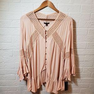 🆕️ Boho Signiture Studio Tunic Shirt Light Pink